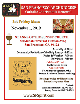 First Friday Mass November 2019