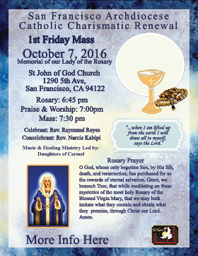 First Friday Mass October 2016